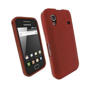 Samsung Galaxy Ace S5830 iGadgitz TPU Kotelo Punainen