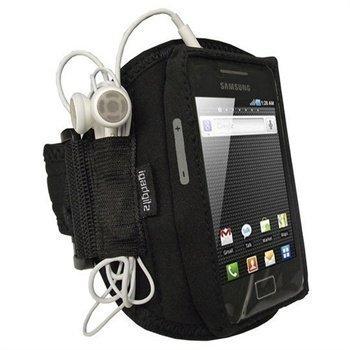 Samsung Galaxy Ace S5830 iGadgitz Vedenkestävä Käsivarsikotelo Musta