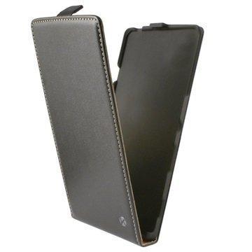 Samsung Galaxy Alpha Ksix Pystymallinen Nahkainen Läppäkotelo Musta