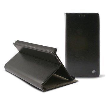 Samsung Galaxy Alpha Ksix Stand Taitettava Nahkakotelo Musta