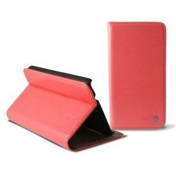 Samsung Galaxy Alpha Ksix Stand Taitettava Nahkakotelo Vaaleanpunainen