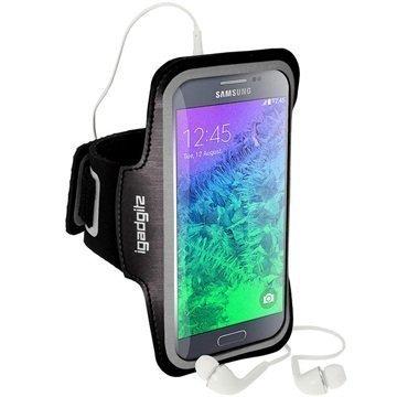Samsung Galaxy Alpha Luistamaton iGadgitz Sports Jogging Käsivarsikotelo Musta