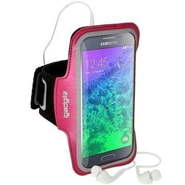 Samsung Galaxy Alpha Luistamaton iGadgitz Sports Jogging Käsivarsikotelo Pinkki