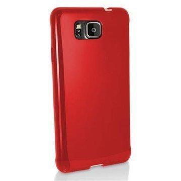 Samsung Galaxy Alpha iGadgitz TPU-Suojakotelo Solid Punainen
