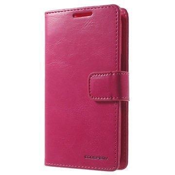 Samsung Galaxy Core Prime Mercury Goospery Blue Moon Diary Lompakkokotelo Kuuma Pinkki