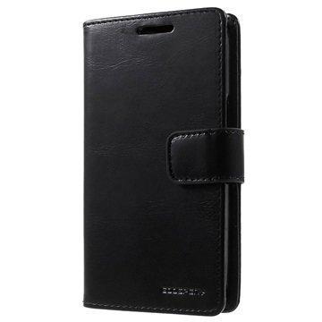 Samsung Galaxy Core Prime Mercury Goospery Blue Moon Diary Lompakkokotelo Musta