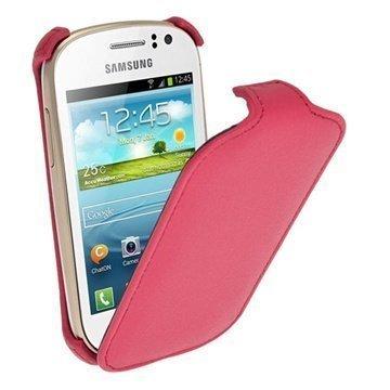 Samsung Galaxy Fame S6810 iGadgitz Flip Leather Case Pink