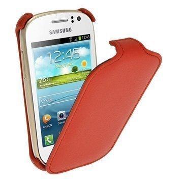 Samsung Galaxy Fame S6810 iGadgitz Flip Leather Case Red
