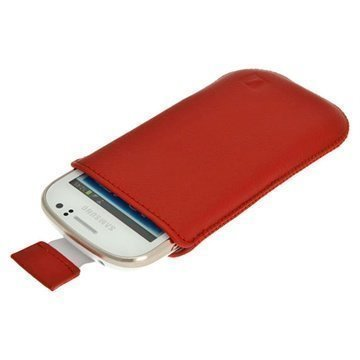 Samsung Galaxy Fame S6810 iGadgitz Leather Case Red