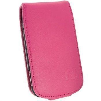 Samsung Galaxy Fame S6810 iGadgitz Nahkainen Läppäkotelo Pinkki