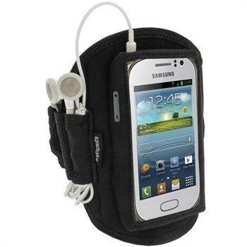 Samsung Galaxy Fame S6810 iGadgitz Neoprene Sports Jogging Armband Black