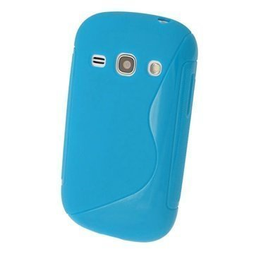 Samsung Galaxy Fame S6810 iGadgitz S Line Crystal TPU-Kotelo Sininen