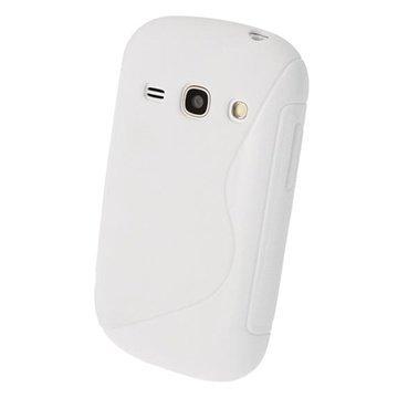 Samsung Galaxy Fame S6810 iGadgitz S Line Crystal TPU-Kotelo Valkoinen