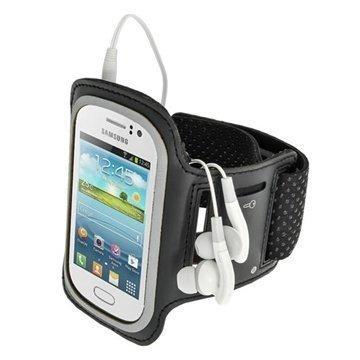 Samsung Galaxy Fame S6810 iGadgitz Sports Jogging Armband Black