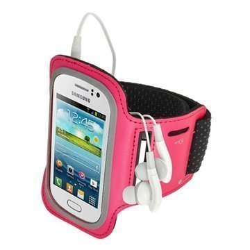 Samsung Galaxy Fame S6810 iGadgitz Sports Jogging Armband Hot Pink