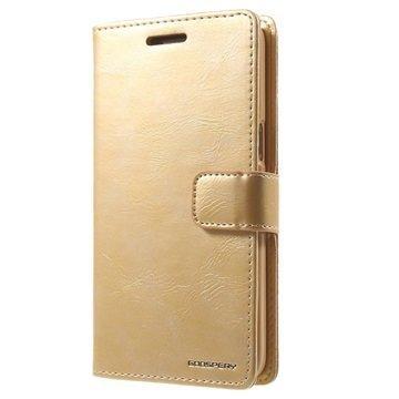 Samsung Galaxy Grand Prime Mercury Goospery Blue Moon Diary Lompakkokotelo Kulta