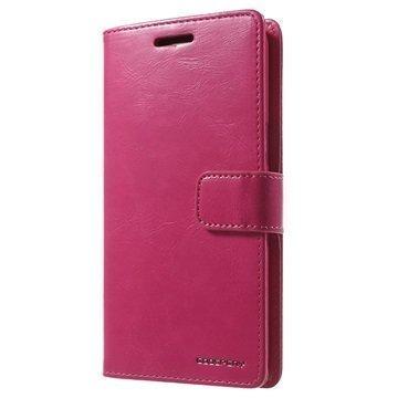 Samsung Galaxy Grand Prime Mercury Goospery Blue Moon Diary Lompakkokotelo Kuuma Pinkki