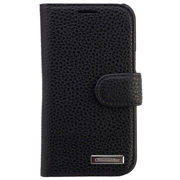 Samsung Galaxy J1 Galaxy J1 4G Commander Elite Book Kotelo Musta