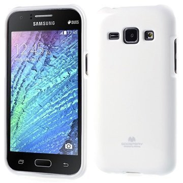 Samsung Galaxy J1 Galaxy J1 4G Mercury Goospery TPU Suojakuori Valkoinen