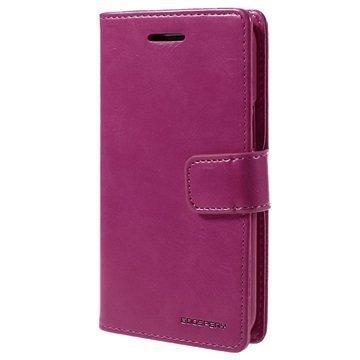 Samsung Galaxy J1 Mercury Goospery Blue Moon Diary Lompakkokotelo Kuuma Pinkki