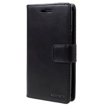 Samsung Galaxy J1 Mercury Goospery Blue Moon Diary Lompakkokotelo Musta