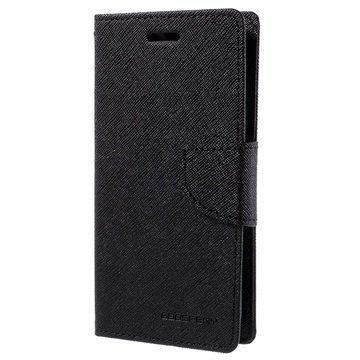 Samsung Galaxy J2 Mercury Goospery Fancy Diary Lompakkokotelo Musta