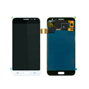 Samsung Galaxy J3 2016 Näyttö Valkoinen