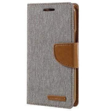 Samsung Galaxy J3 Mercury Goospery Canvas Diary Lompakkokotelo Harmaa