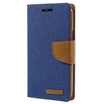 Samsung Galaxy J3 Mercury Goospery Canvas Diary Lompakkokotelo Sininen