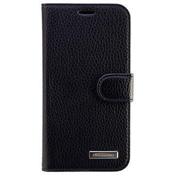 Samsung Galaxy J5 Commander Elite Book Kotelo Musta