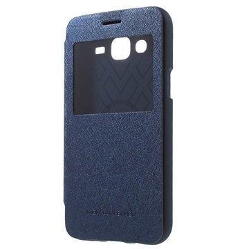 Samsung Galaxy J5 Mercury Goospery Wow Bumper Ikkunallinen Läppäkotelo Sininen