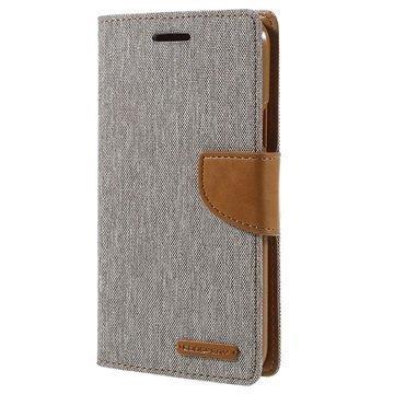 Samsung Galaxy J7 Mercury Goospery Canvas Diary Lompakkokotelo Harmaa