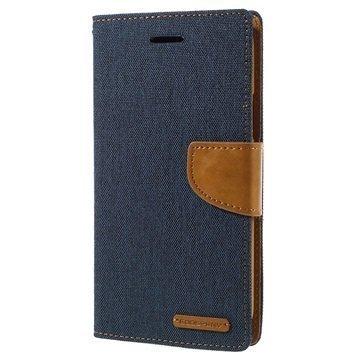 Samsung Galaxy J7 Mercury Goospery Canvas Diary Lompakkokotelo Tummansininen