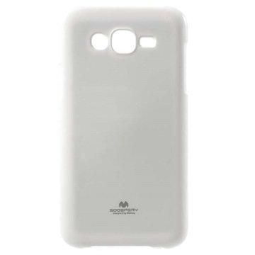 Samsung Galaxy J7 Mercury Goospery TPU Kotelo Valkoinen