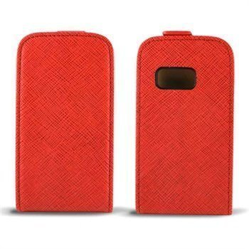 Samsung Galaxy Mini 2 s6500 Ksix Nahkainen Läppäkotelo Punainen