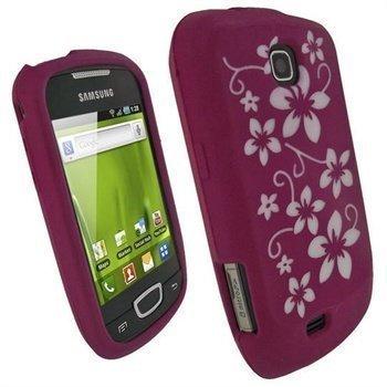 Samsung Galaxy Mini S5570 iGadgitz Silikonikotelo Kukka