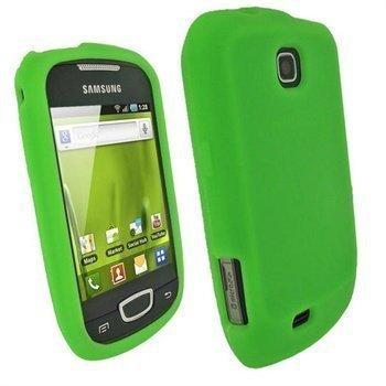 Samsung Galaxy Mini S5570 iGadgitz Silikonikotelo Vihreä
