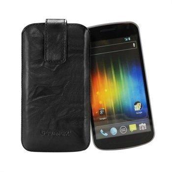 Samsung Galaxy Nexus I9250 Blumax Leather Case Black