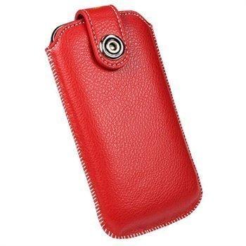 Samsung Galaxy Nexus I9250 Igadgitz Nahkainen Kotelo Punainen