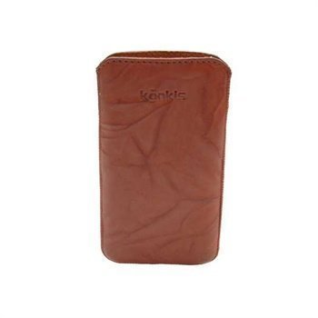 Samsung Galaxy Nexus I9250 Konkis Leather Case Washed Choco Brown