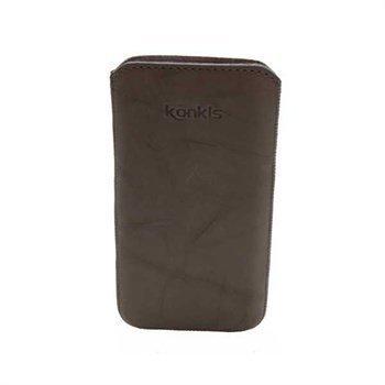 Samsung Galaxy Nexus I9250 Konkis Leather Case Washed Grey