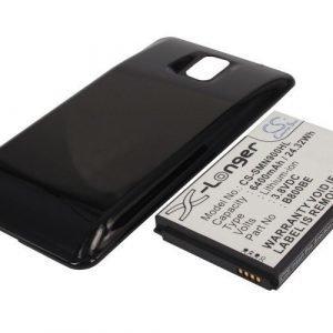 Samsung Galaxy Note 3 Galaxy Note III SM-N9000 tehoakku erillisellä laajennetulla mustalla takakannella 6400 mAh