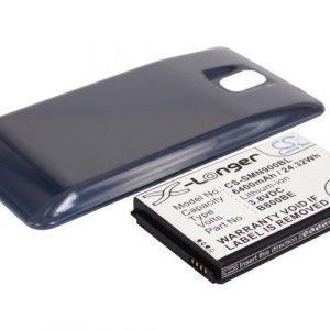 Samsung Galaxy Note 3 Galaxy Note III SM-N9000 tehoakku erillisellä laajennetulla sinisellä takakannella 6400 mAh