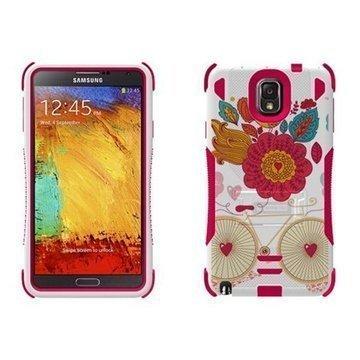 Samsung Galaxy Note 3 N9000 N9005 Beyond Cell Tri Shield Hybrid Case Bird of Paradise