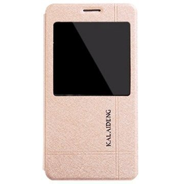Samsung Galaxy Note 4 Kalaideng Iceland II Flip Nahkakotelo Kulta
