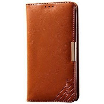 Samsung Galaxy Note 4 Kalaideng Royale II Nahkainen Lompakkokotelo Ruskea