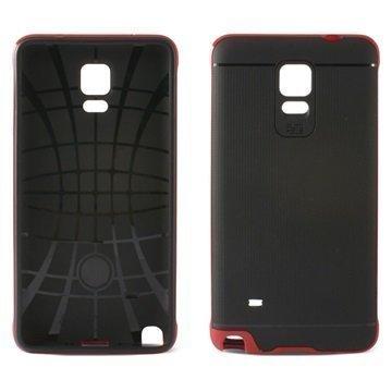 Samsung Galaxy Note 4 Ksix Flex Neo TPU Kotelo Musta / Punainen