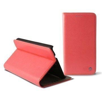 Samsung Galaxy Note 4 Ksix Folio Nahkakotelo Pinkki