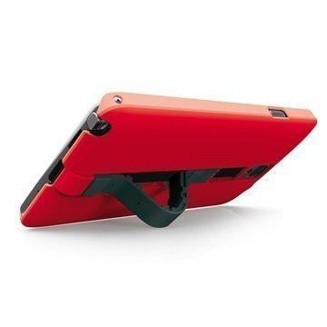 Samsung Galaxy Note 4 Ksix Worm Standing Kovakotelo Punainen