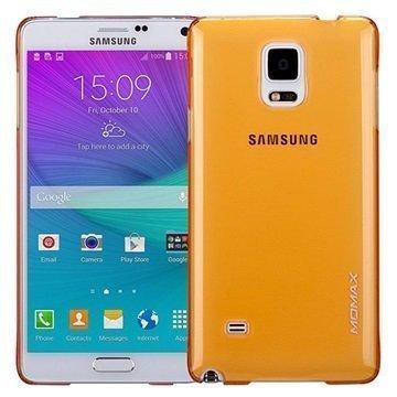Samsung Galaxy Note 4 Momax Ultra Thin Series Kova Kotelo Clear Breeze Keltainen